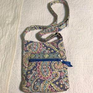 Vera Bradley Crossbody handbag; worn handbag,clean